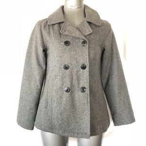 Old Navy Girls Gray Pea Coat